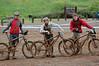 Greg Hermansen, Casey Sanchez, Buddy Newman ready to clean their bikes off