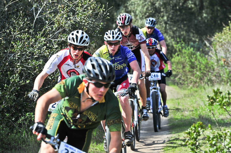 The lead paceline at Fort Ord, JV race