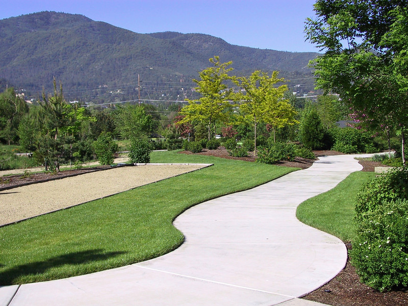 Path to bocce court