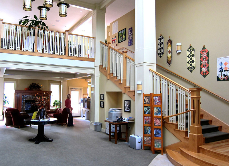Clubhouse Lobby with Resident Art