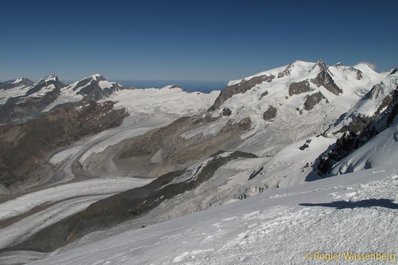 Allalin-, Rimpfisch-, Strahlhorn and Monte Rosa massif