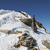 Statue on the Swiss summit (4478m)