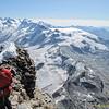 View to SE. Monte Rosa, Lyskam, Castor, Breithorn