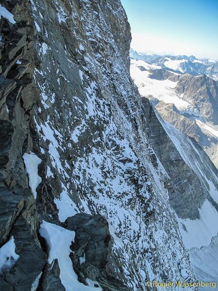 View in the north face, Zmuttgrat