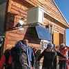 At the Solvay hut (4002m)
