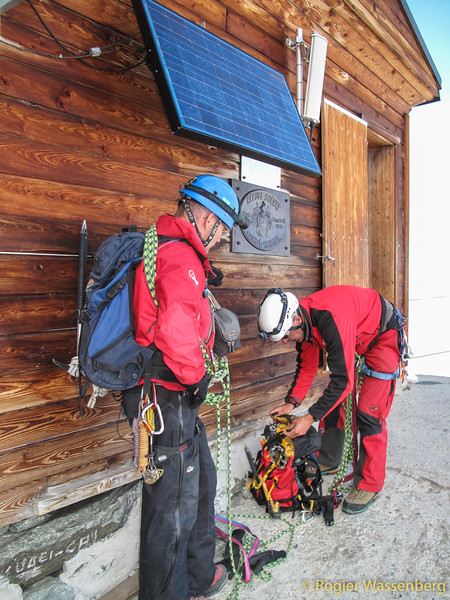 Solvay hut, small break