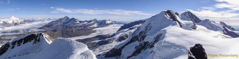 On the summit of Castor