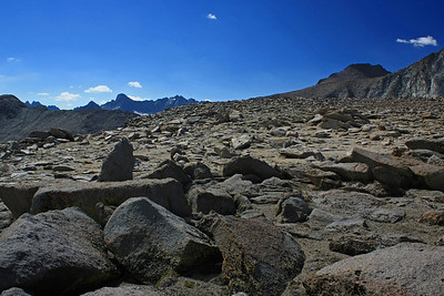 The southerly part of the Palisade Range peaks up over this higher part of the plateau.