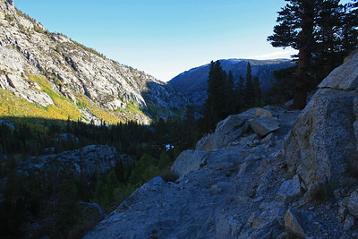 This is what the trail looked like leaving South Lake.  I'm looking down the valley towards Bishop.