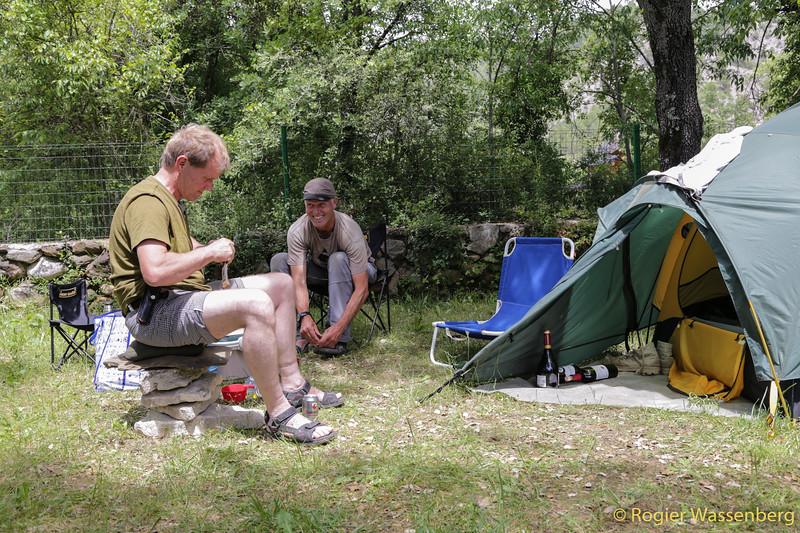 Camp at Puy Arruego