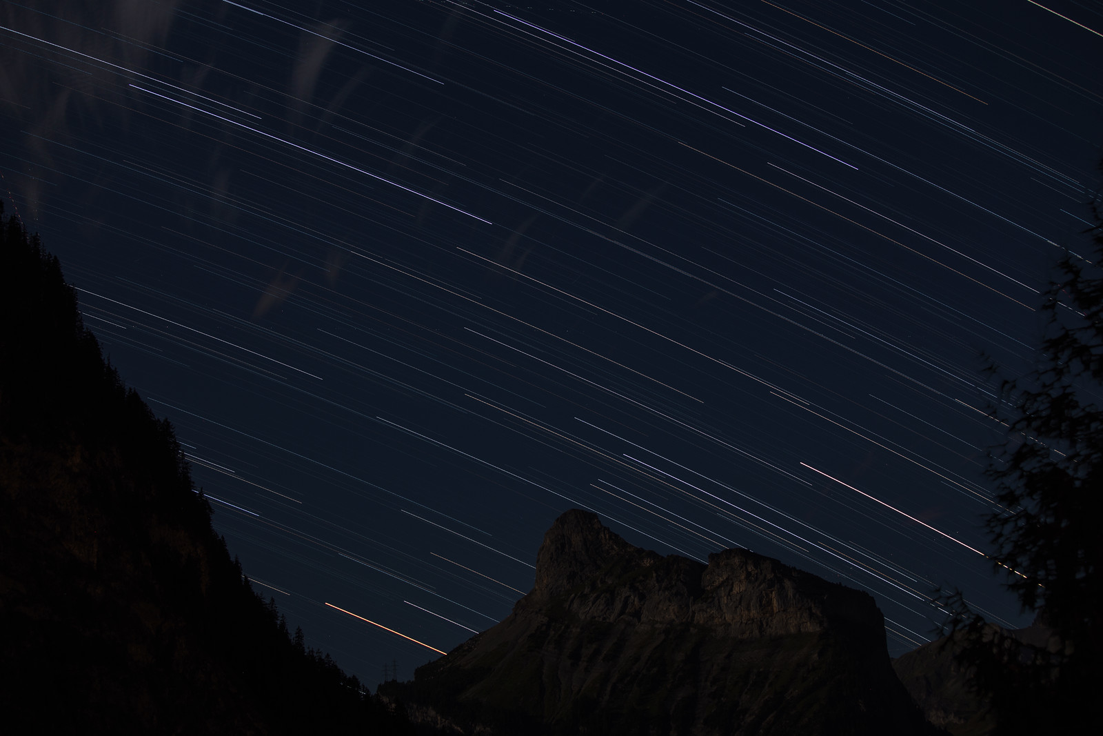 Star trail from Kandersteg