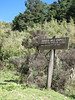 warning sign  for dangerous animals (Mt.Kenya,E.Africa 2005)