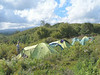 18 - 19 Dec. Campsite Bairuni Clearing 2525m. (Mt.Kenya,E.Africa 2005)