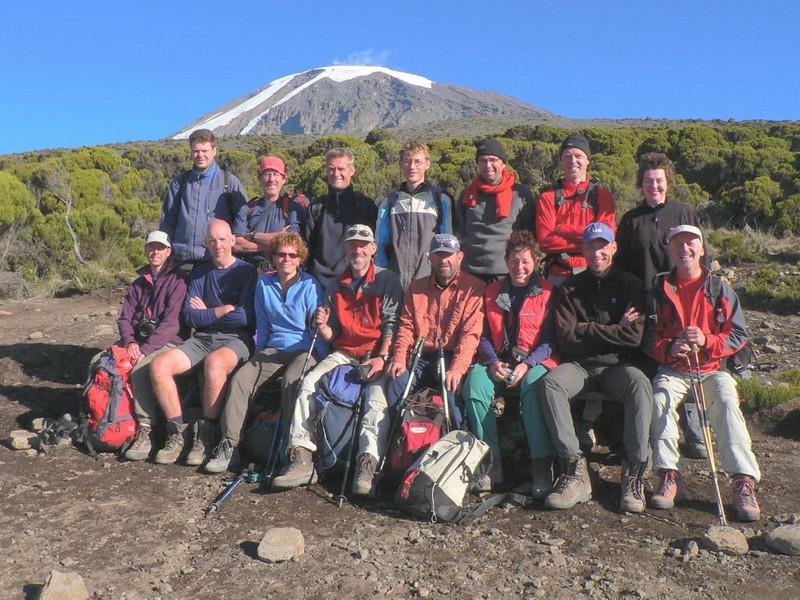 HT group, Marijn and Frank (Kilimanjaro, Tanzania 2005, Millenium Camp 3818m.)