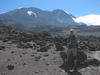 ascent Kili with in the back ground the Kilimanjaro (Kilimanjaro, Tanzania 2005)