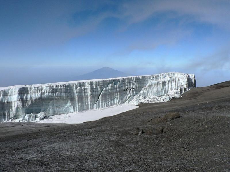 glacier and Mt.Meru 4500m.  (Kilimanjaro, Tanzania 2005)