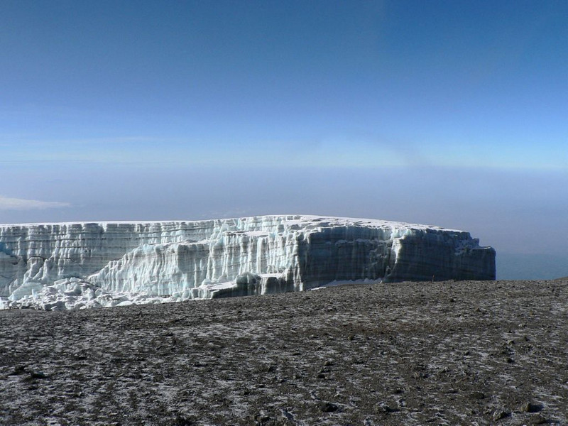 glacier on the Kili (Kilimanjaro, Tanzania 2005)