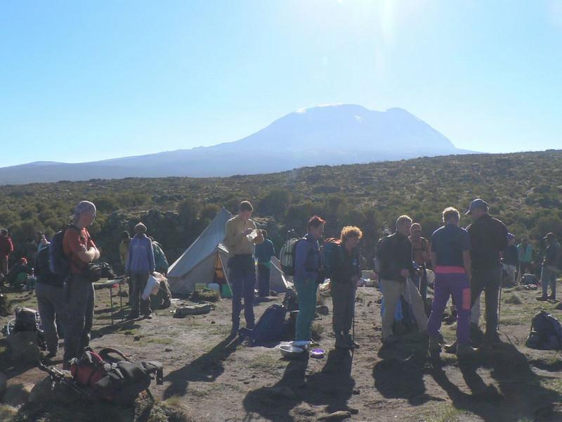 Camp Shira 1 3505m. with the Kili (Kilimanjaro, Tanzania 2005)