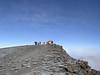 the summit of the highest mountain of Africa, the Uhuru peak 5895m.  (Kilimanjaro, Tanzania 2005)