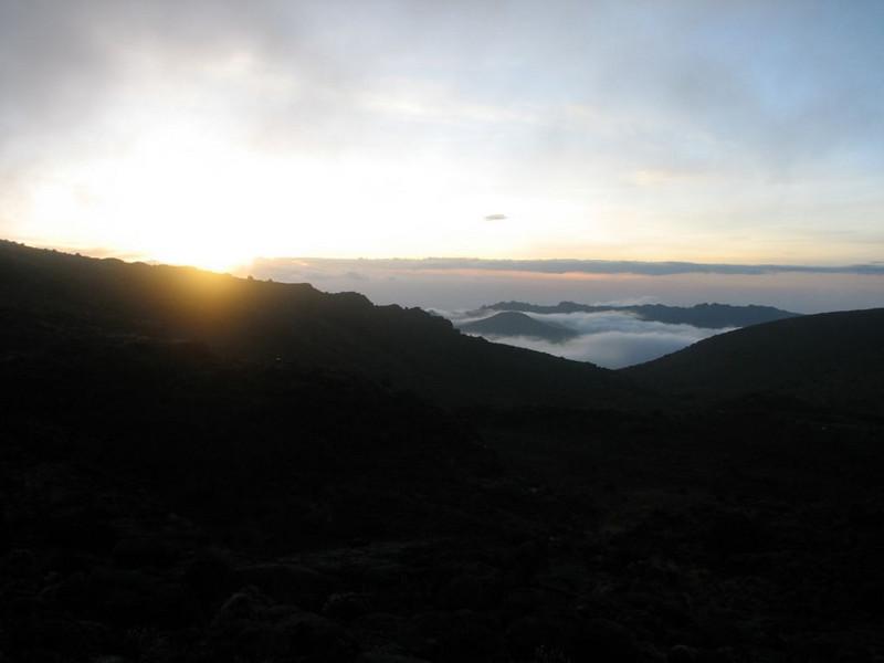 sunset (Kilimanjaro, Tanzania 2005)