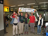 """Reception, Welcome Home, [NL:""""WELKOM THUIS""""], Schiphol Airport, Netherland"""