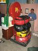 Weighting luggage, total max. 4 x 15 = 60kg, Airport Kathmandu, Flight: Kathmandu 1300m-Lukla 2750m