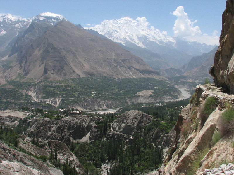 Karimabad with Rakaposhi 7788m.  (Hunza valley)