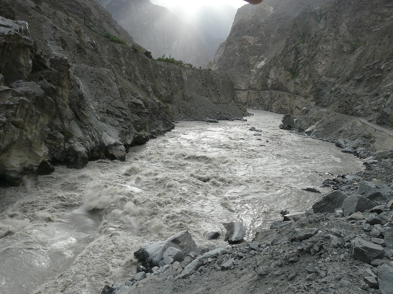 Indus river and Karakorum Highway KKH