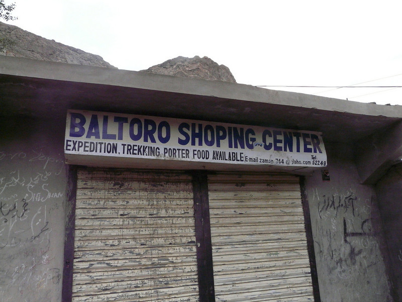 shop in Askole (Askole 3000m.)