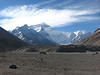 Everest Base Camp 5160m  View to Mount Everest18oct. 2006 (Tibet 2006 Lakpa Ri Expedition)