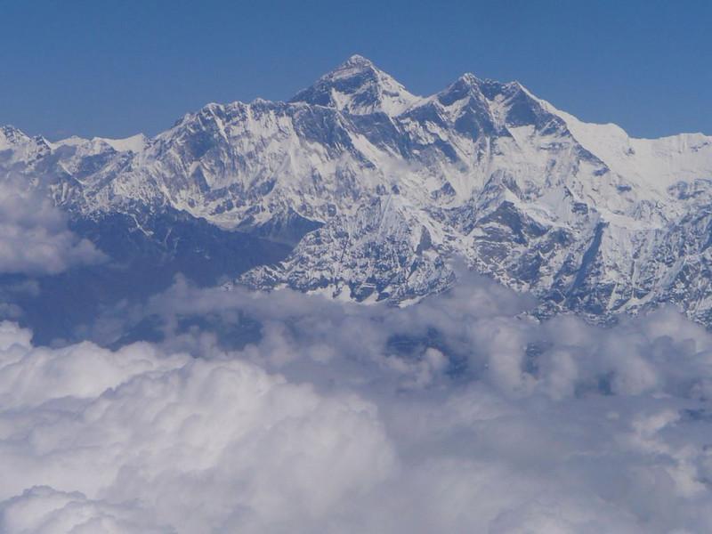 Everest 8848m and Lhotse 8516m (Kathmandu, Nepal - Lhasa, Tibet)