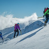 Climbing above the skifield