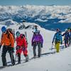 The team above Lake Alta