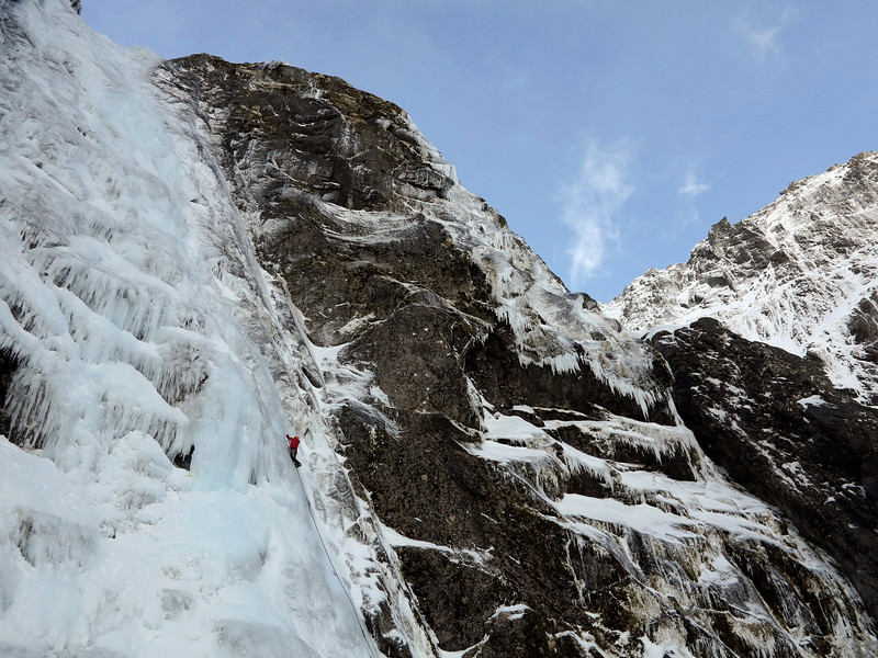 Rather a nice ice crag eh. Cirque Creek