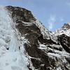 Rather a nice ice crag eh. Cirque Creek