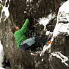 Day 2 - poor weather. Frazer learns to climb verglas with his new tools - lesson courtesy of the legendary Allan Uren