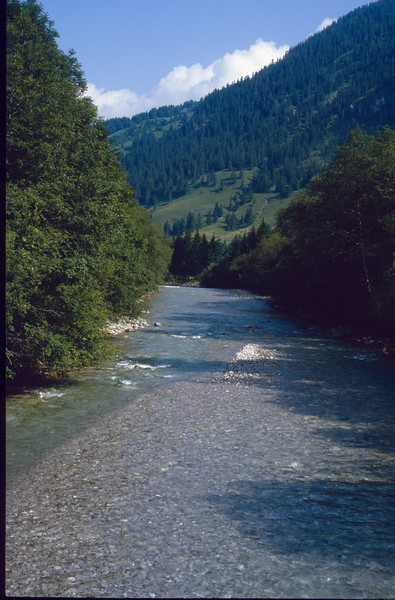 Ostrach river, Hinterstein (Allgau 1984)