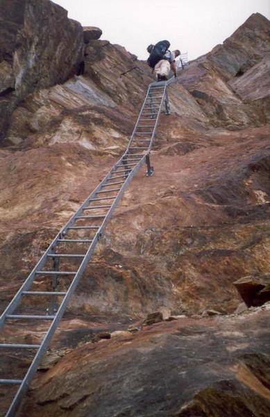 stairs (trainingtrek Otztal, Obergurgl - Vent , Austria 14 - 18 Aug.1999)