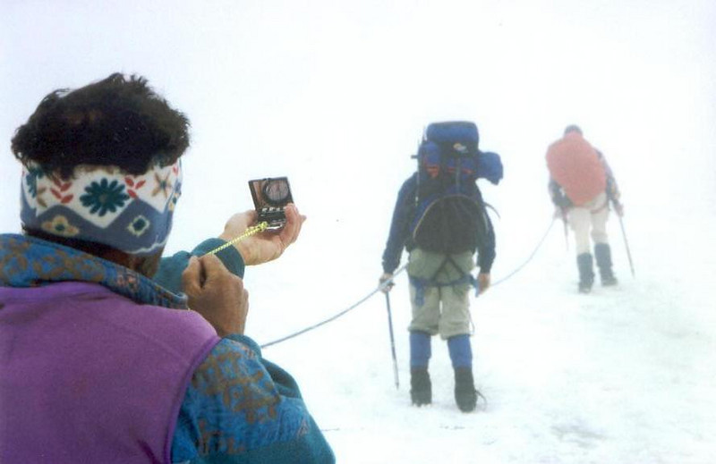 ascent to the Wildspitze 3774m. (Vent, C1 course: rock and ice and tour, 1999)