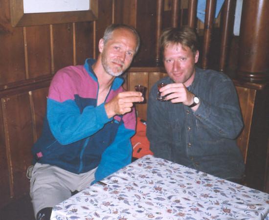 15 Aug. Marijn 47th  birtday (trainingtrek Otztal, Obergurgl - Vent , Austria 14 - 17Aug.1999)