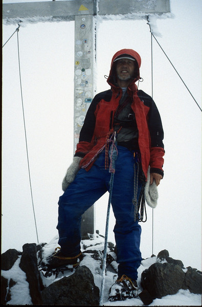 23 Aug. summit Wildspitze 3774m. (Vent, C1 course: rock and ice and tour, 1999)