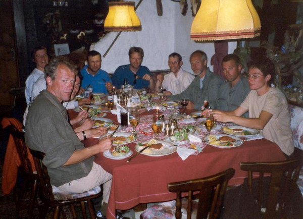 C1 Group: 8 man and 2 women (Vent, C1 course: rock and ice and tour, 17 - 28 Aug. 1999)