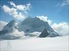 Rottalhorn, Rottalsattel and our goal : the  Jungfrau 4158m. (Berner Oberland 2005)