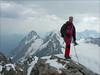 summit Jungfrau 4158m. with Eiger and Monch (Berner Oberland 2005)