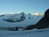 Gruneggfirn background center,Dreieckhorn 3810m. and right Aletschhorn 4193m.