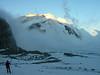 Gruneggfirn background center,Dreieckhorn 3810m. and right Aletschhorn 4193m. (sunrising at 7.00h.)