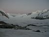 Gruneggfirn 6.00 h (background Lotschenlucke with Hollandiahutte and Gletscherhorn 3983m)