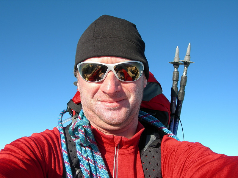 Mark van 't Hof (summit Piz Argient 3945m.)