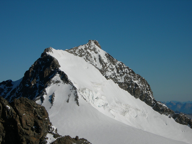 summit of Piz Bernina 4048m.