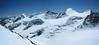 Piz Palu 3901m., Bellavista 3922m.,Piz Zupo 3996m., Piz Argient 3945m. and Crast' Aguzzo 3854m. (panoramaview Bernina from Piz Bernina)